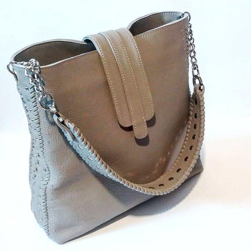 Женская сумка 01 Белый натуральная кожа Гебель Светлана - фото 7