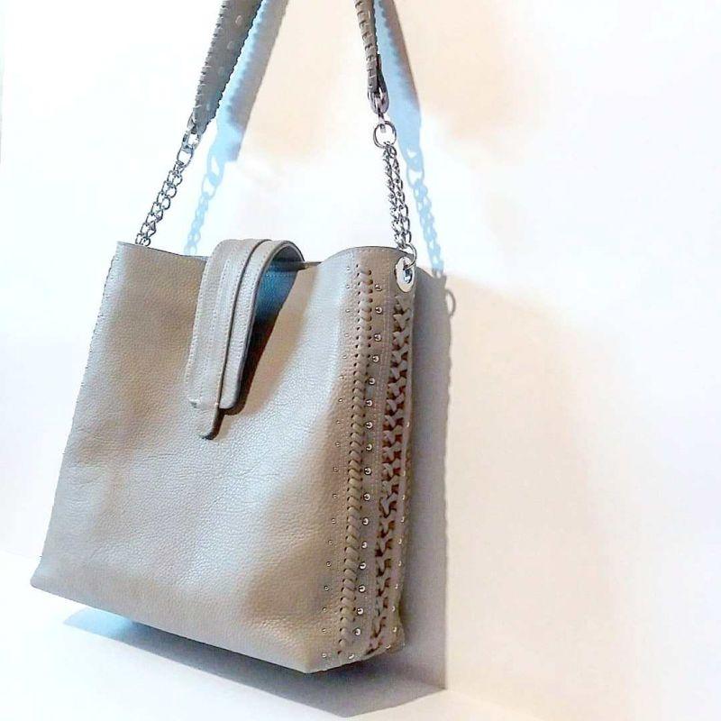 Женская сумка 01 Белый натуральная кожа Гебель Светлана - фото 3
