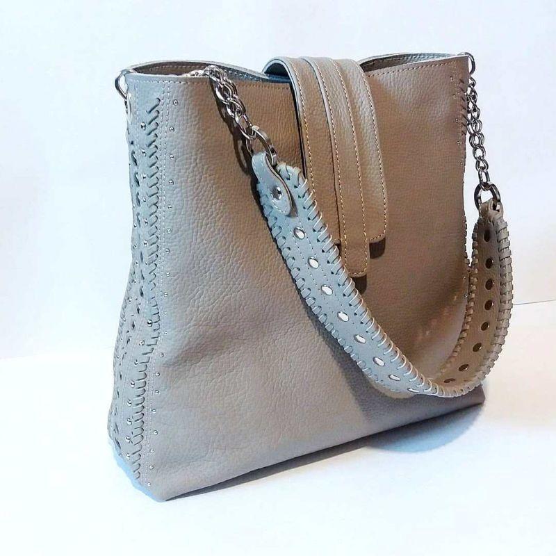Женская сумка 01 Белый натуральная кожа Гебель Светлана - фото 5