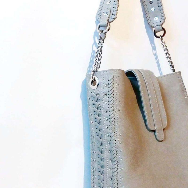 Женская сумка 01 Белый натуральная кожа Гебель Светлана - фото 1