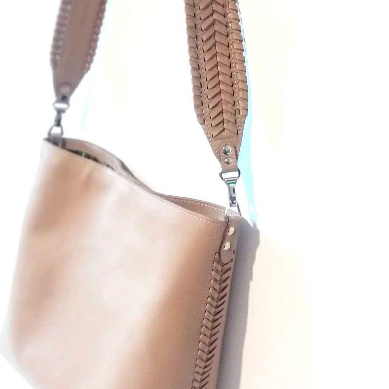 Женская сумка 02 Бежевый  натуральная кожа Гебель Светлана - фото 4