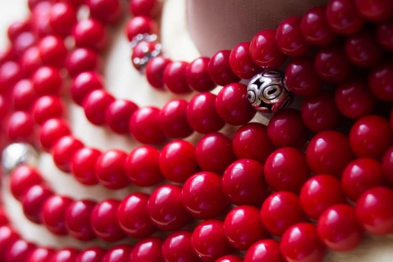 """Ожерелье из коралла с кистями Красный Современный коралл, бусин """"Пацьорки для панянок"""" - фото 5"""