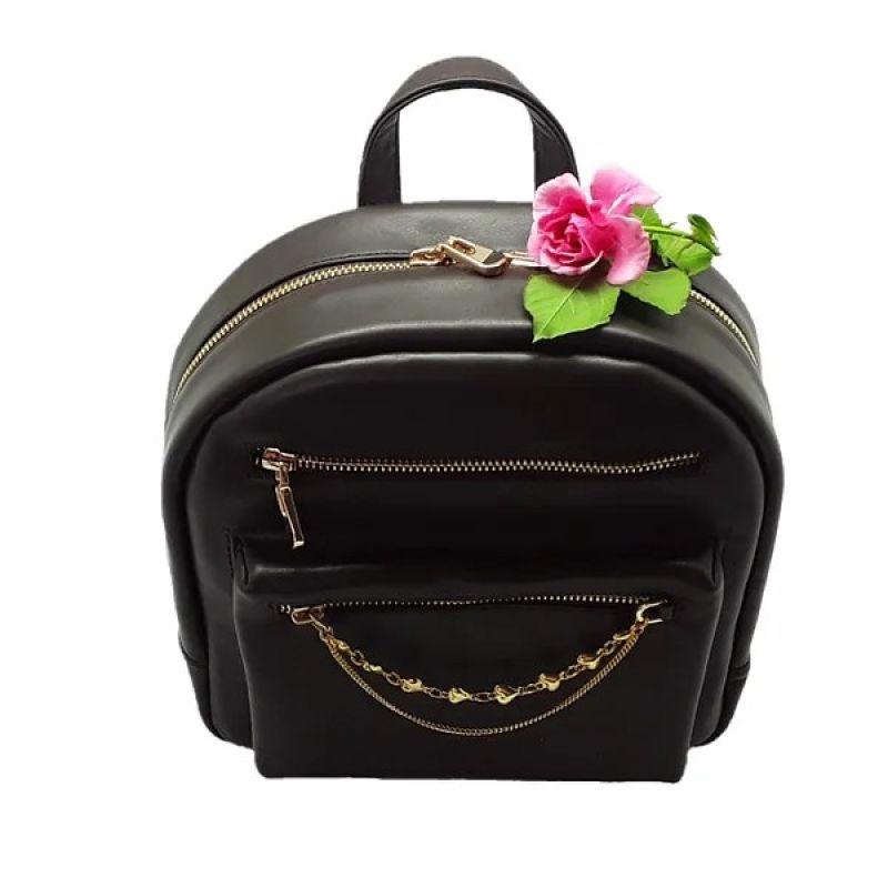 Рюкзак женский из натуральной кожи Черный Натуральная кожа Жушман Елена - фото 1