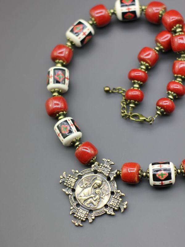 "Ожерелье ""Княжа тайна""  Бусины ручной работы из б Борийчук Оксана - фото 4"