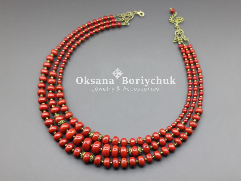 """Ожерелье """"Преданная традициям""""  Бусины ручной работы из б Борийчук Оксана - фото 1"""