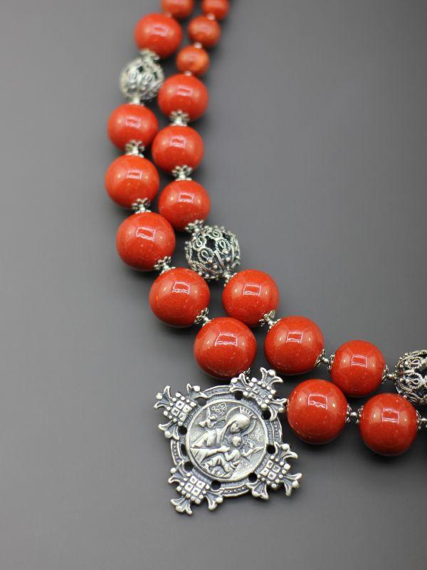 """Ожерелье """"Родной румянец""""  Бусины ручной работы из б Борийчук Оксана - фото 2"""