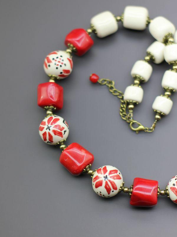 """Ожерелье """"Украшенная цветами любовь""""  Коралл, бусины ручной раб Борийчук Оксана - фото 2"""
