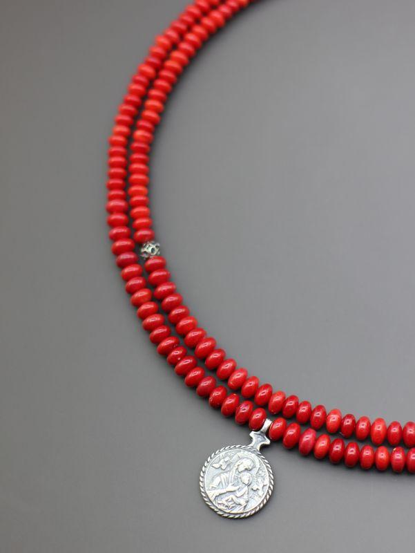"Ожерелье ""Красные маки""  Коралл, авторская згарда Борийчук Оксана - фото 4"