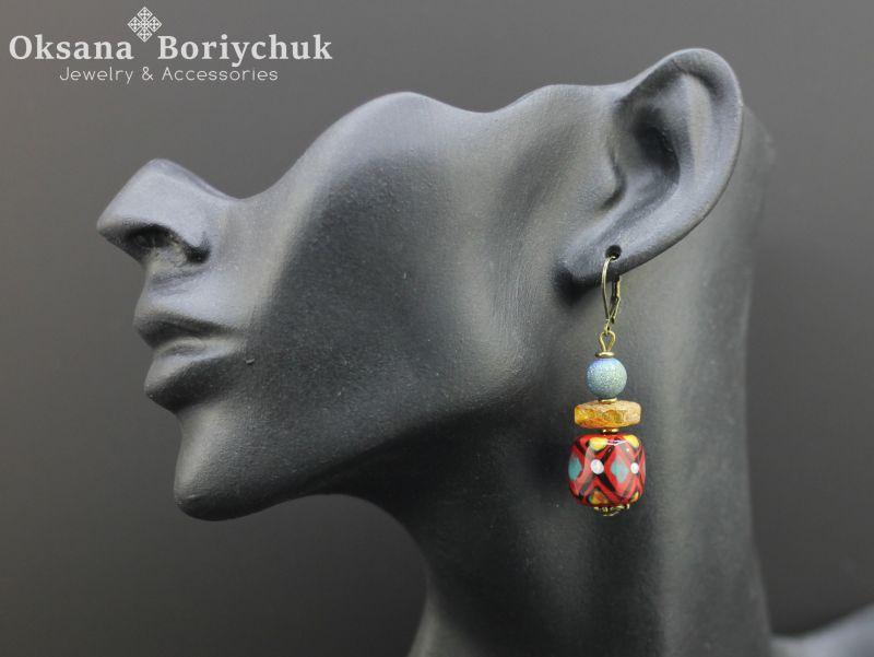 """Ожерелье """"Палитра степи""""  Бусины ручной работы из б Борийчук Оксана - фото 2"""