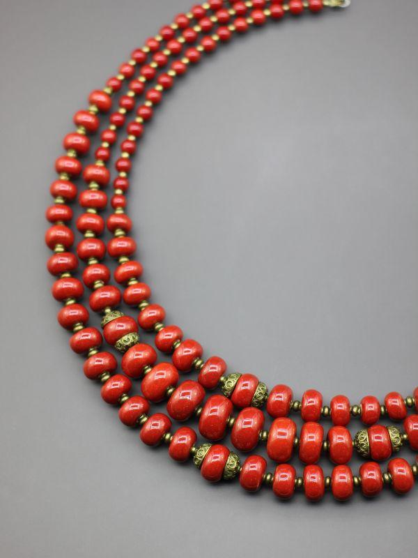 """Ожерелье """"Преданная традициям""""  Бусины ручной работы из б Борийчук Оксана - фото 4"""