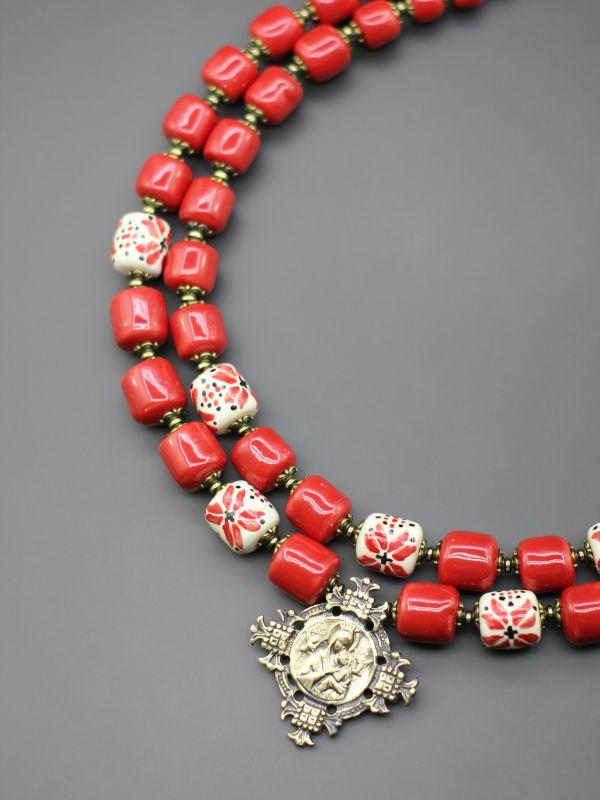 """Ожерелье """"Цветущее сердце""""  Бусины ручной работы из б Борийчук Оксана - фото 2"""