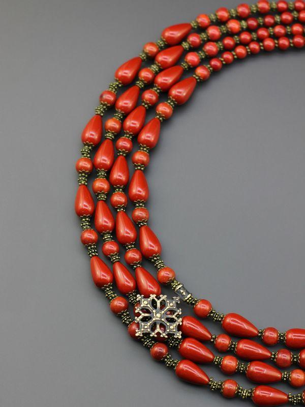 """Ожерелье """"Счастливая мечта"""" Красный Коралл, жемчуг Майорка, а Борийчук Оксана - фото 4"""