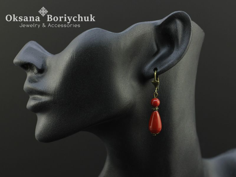"""Ожерелье """"Счастливая мечта"""" Красный Коралл, жемчуг Майорка, а Борийчук Оксана - фото 2"""