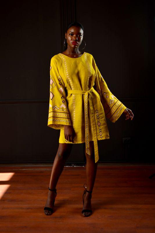 """Сукня """"Африка"""" Желтый 100% лен Chichka - фото 3"""