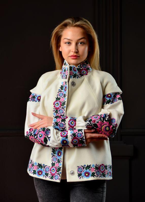 """Вишитий костюм """"Борщівські квіти"""" Білий Бавовна та кашемір Chichka - фото 1"""