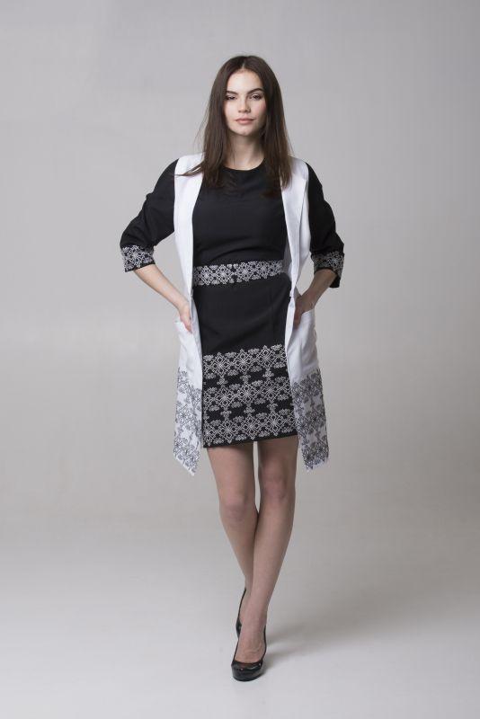 "Платье из серии ""Black & White"" Черный Габардин Chichka - фото 5"