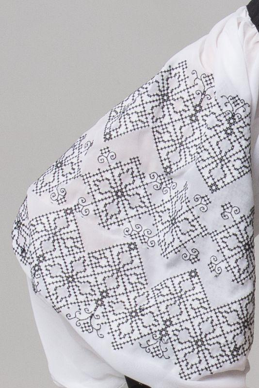 "Блуза из серии ""Black & White""  Черный Шифон-шелк Chichka - фото 4"