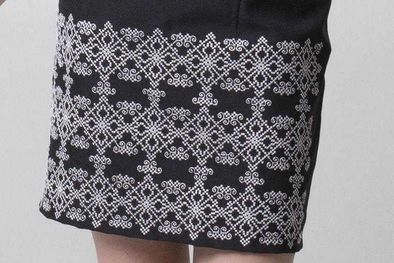 "Платье из серии ""Black & White"" Черный Габардин Chichka - фото 4"