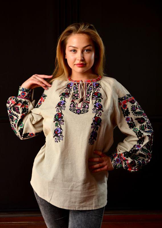 Борщевская женская вышиванка  Белый 100% лен Chichka - фото 4