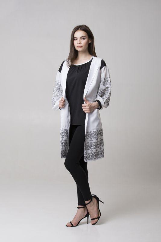 "Блуза из серии ""Black & White""  Черный Шифон-шелк Chichka - фото 2"