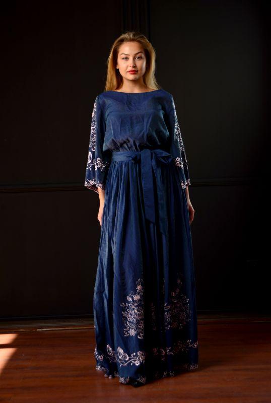 "Платье ""Морской бриз"" Синий Шолк Chichka - фото 1"