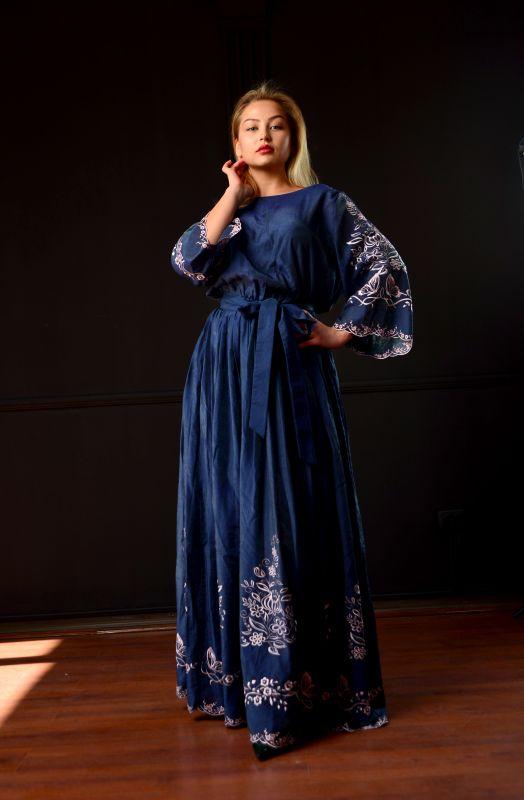 "Платье ""Морской бриз"" Синий Шолк Chichka - фото 6"