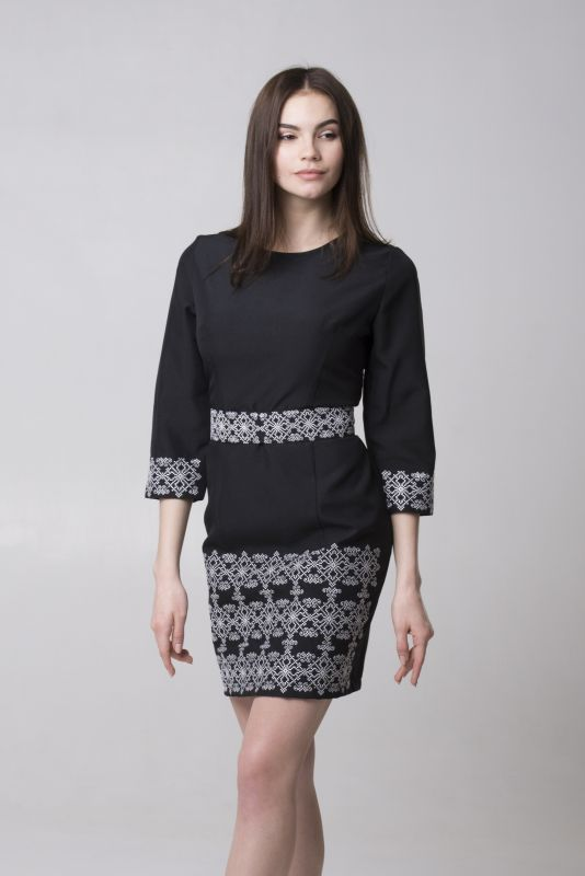"Платье из серии ""Black & White"" Черный Габардин Chichka - фото 1"