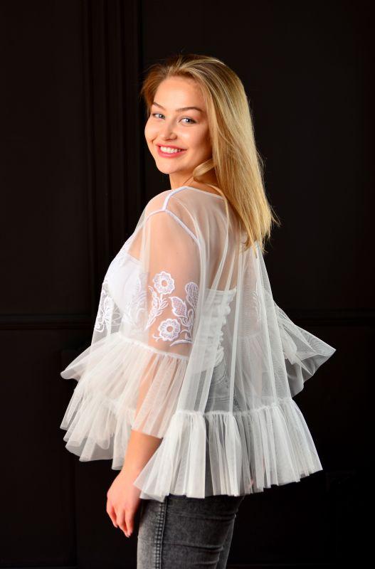 """Блуза """"Крылья"""" Белый фатин Chichka - фото 3"""