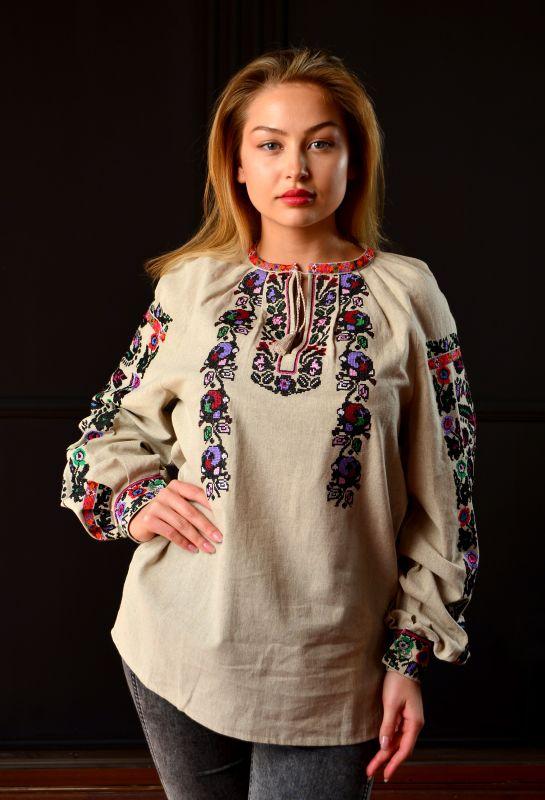 Борщевская женская вышиванка  Белый 100% лен Chichka - фото 1
