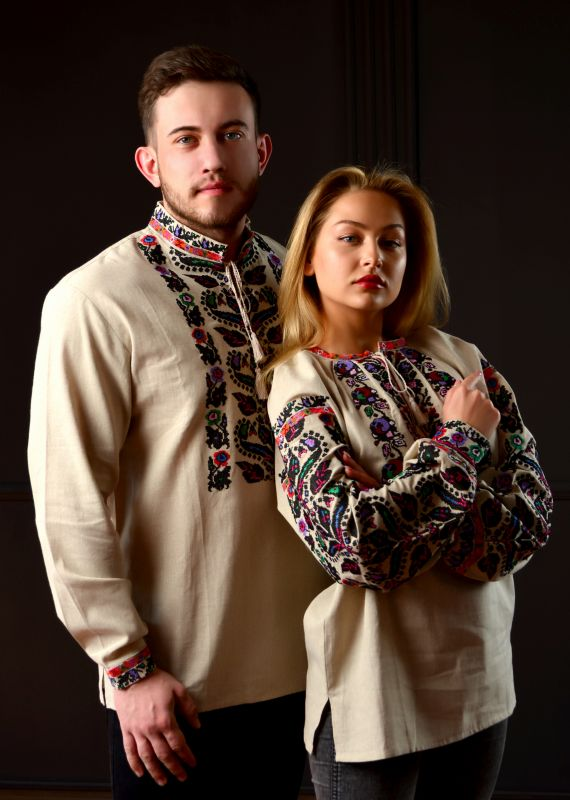 Борщевская женская вышиванка  Белый 100% лен Chichka - фото 2