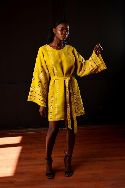 """Сукня """"Африка"""" Желтый 100% лен Chichka - фото 5"""