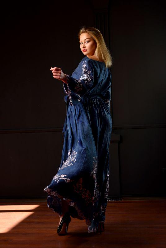 "Платье ""Морской бриз"" Синий Шолк Chichka - фото 4"