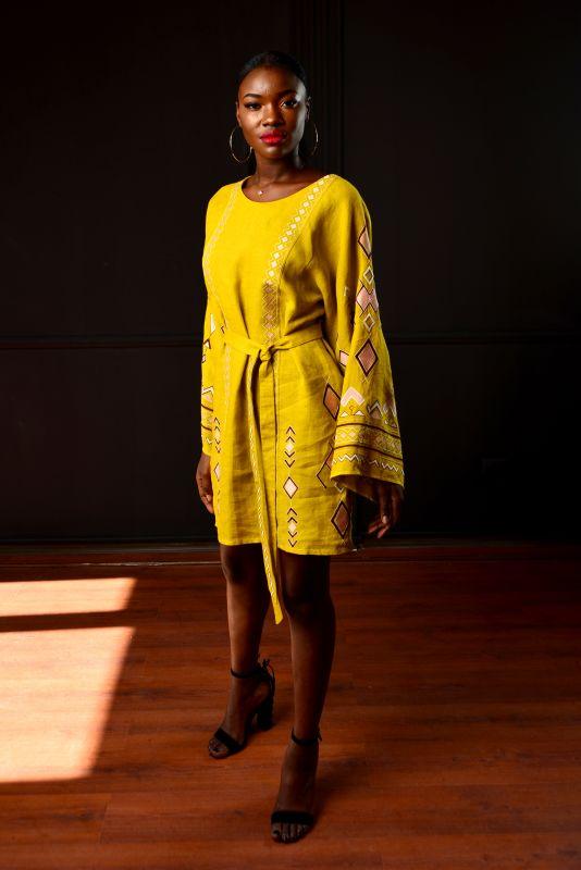 """Сукня """"Африка"""" Желтый 100% лен Chichka - фото 6"""