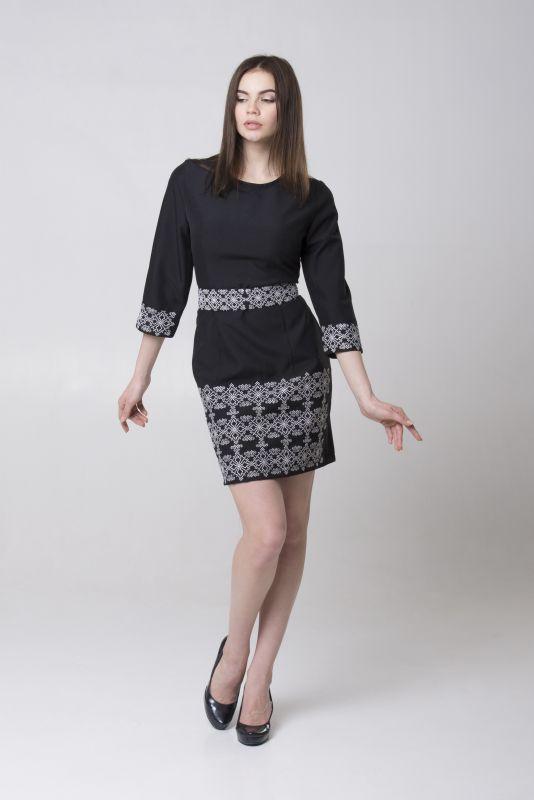 "Платье из серии ""Black & White"" Черный Габардин Chichka - фото 3"