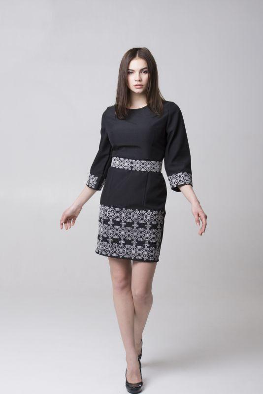 "Платье из серии ""Black & White"" Черный Габардин Chichka - фото 2"