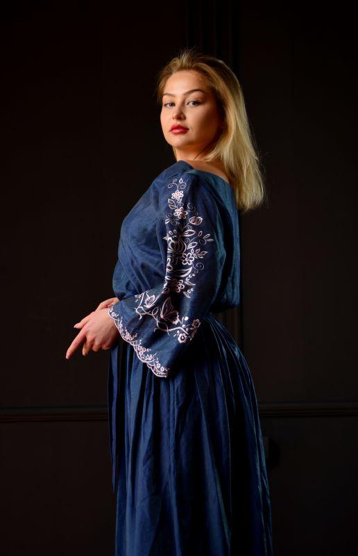 "Платье ""Морской бриз"" Синий Шолк Chichka - фото 2"