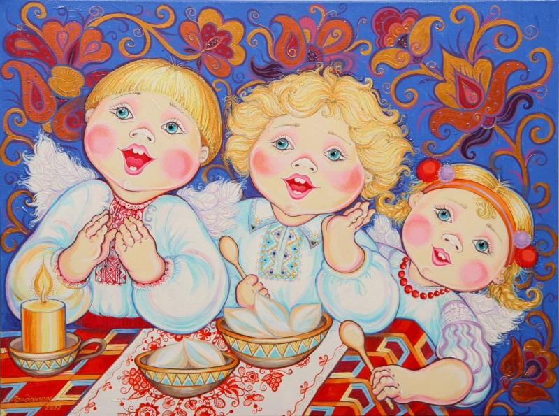 На Рождество (диптих) №2  акрил, холст (автор техн) Проданчук Наталья - фото 1