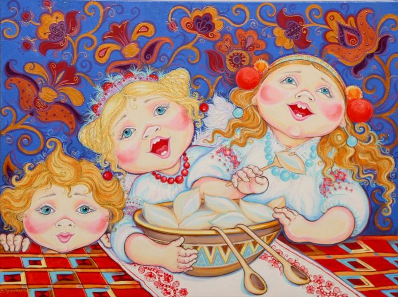 На Рождество (диптих)  акрил, холст (автор техн) Проданчук Наталья - фото 1