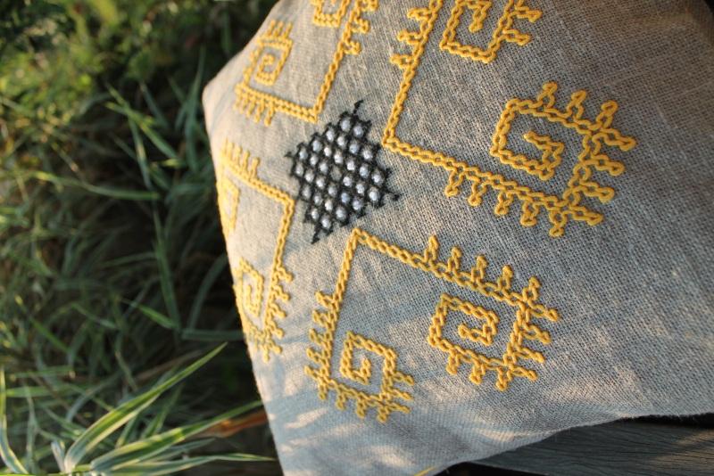 Трипольские отголоски Серый 100% лен БаЛьон - фото 4