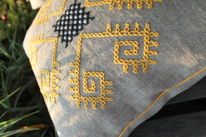 Трипольские отголоски Серый 100% лен БаЛьон - фото 3