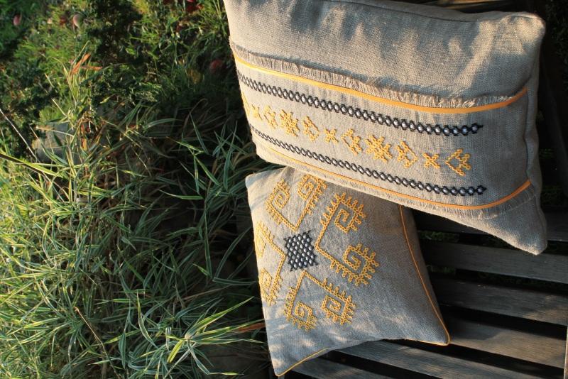 Трипольские отголоски Серый 100% лен БаЛьон - фото 2