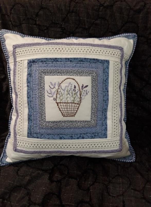 Прованс Голубой хлопок, натуральное круже Толстых Нина - фото 3