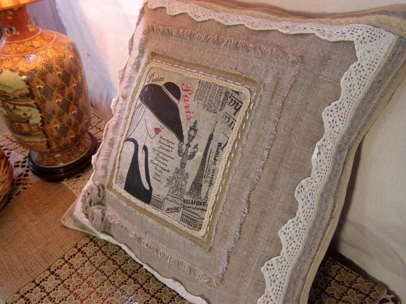 Парижанка Бежевый  лён, натуральное кружево Толстых Нина - фото 1