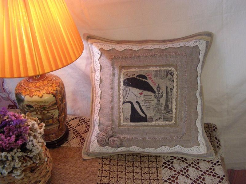 Парижанка Бежевый  лён, натуральное кружево Толстых Нина - фото 2