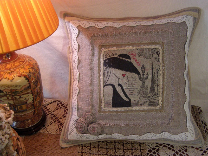 Парижанка Бежевый  лён, натуральное кружево Толстых Нина - фото 3