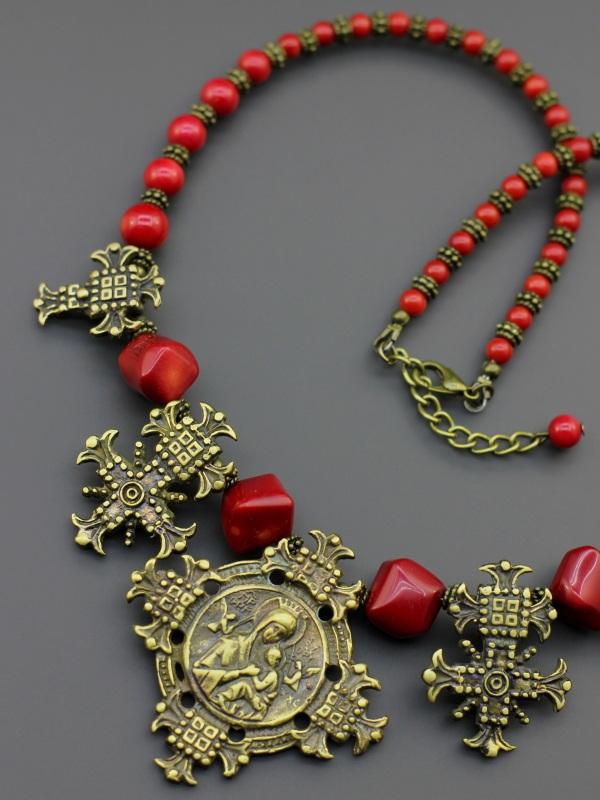 "Ожерелье ""Коралловая панна""  Натуральный коралл, автор Борийчук Оксана - фото 2"
