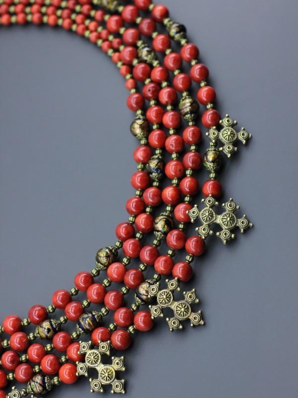 "Ожерелье ""Королевские кораллы"" Красный Натуральный коралл, венец Борийчук Оксана - фото 3"