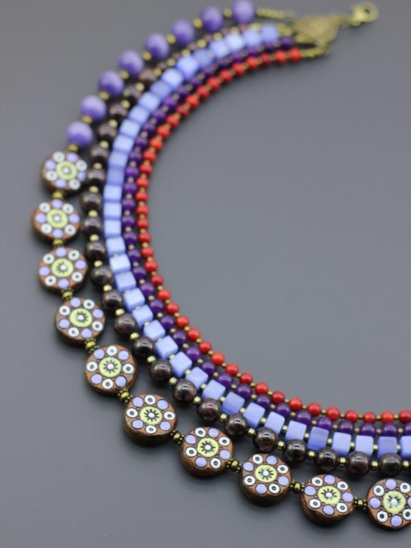 """Ожерелье """"Колоритное"""" Разноцветный Коралл, бусины ручной раб Борийчук Оксана - фото 3"""