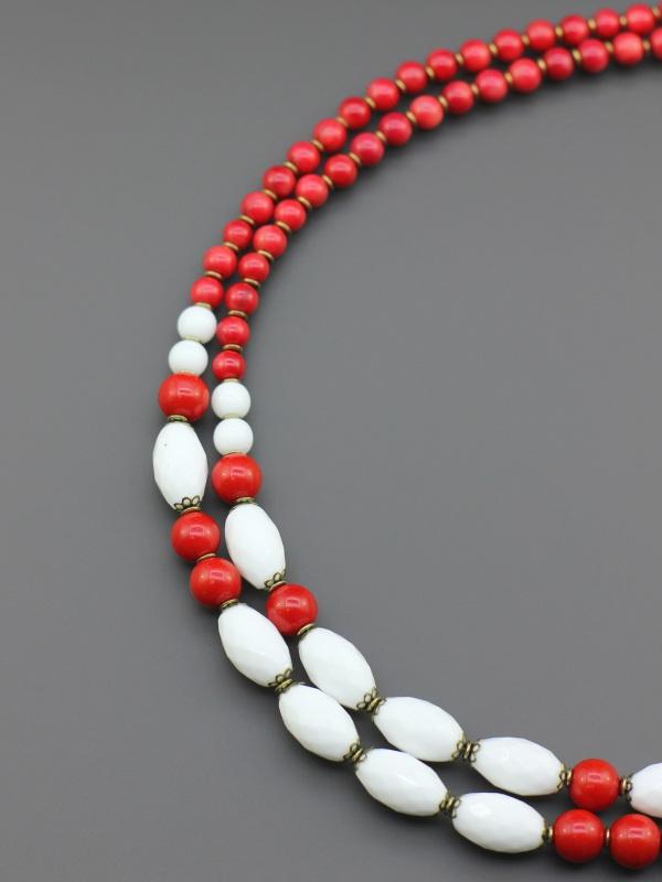 "Ожерелье ""Красная брусника""  Коралл, бусины Preciosa ( Борийчук Оксана - фото 2"