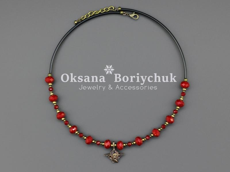 """Чокер """"Неземные дары""""  Хрусталь, тонированный ге Борийчук Оксана - фото 2"""